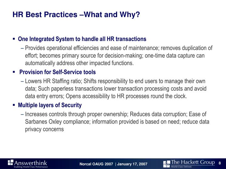 HR Best Practices –What and Why?