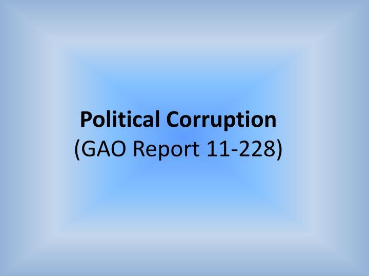 Political Corruption