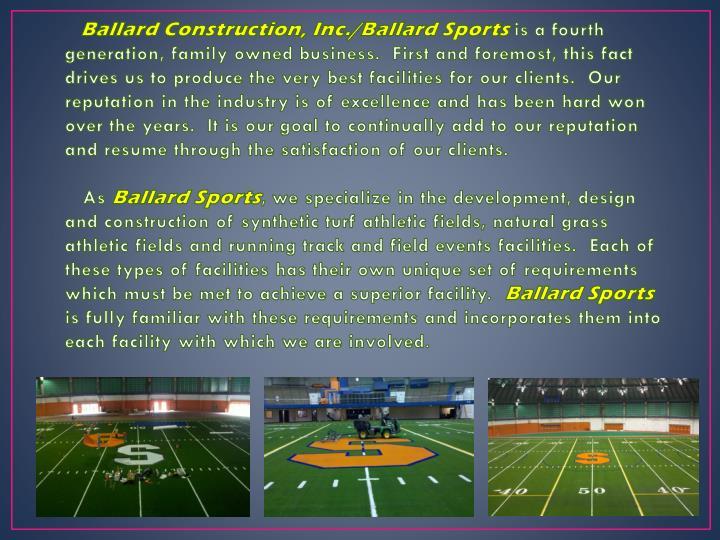 Ballard Construction, Inc./Ballard Sports