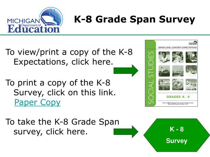 K-8 Grade Span Survey
