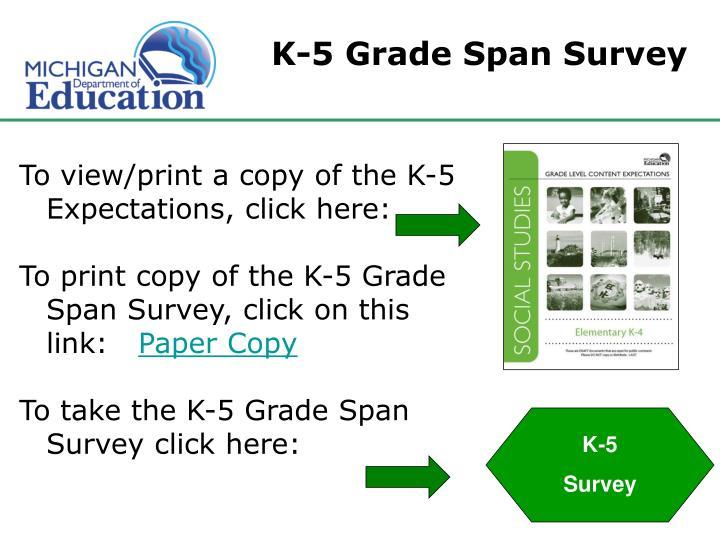 K-5 Grade Span Survey
