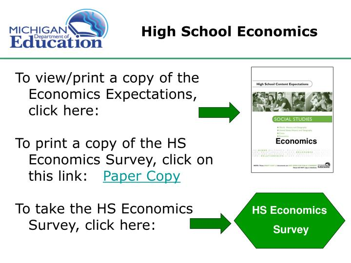 High School Economics