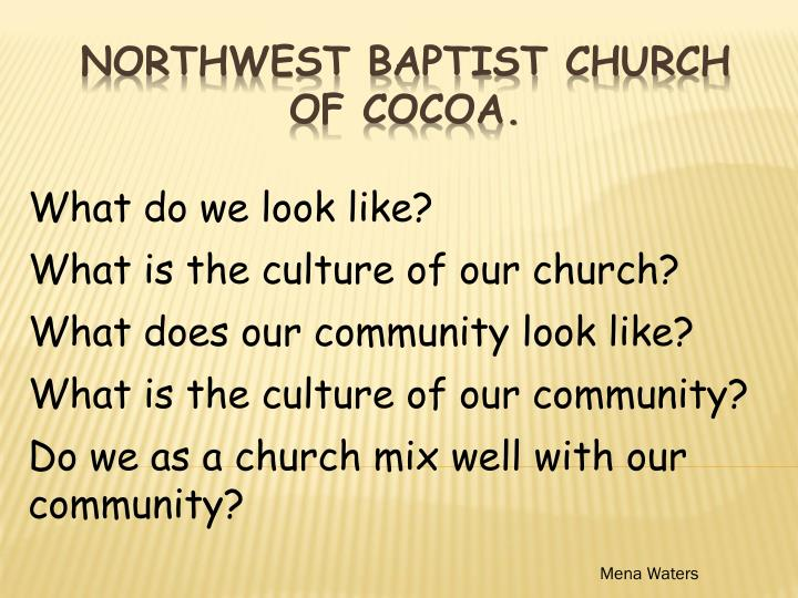 Northwest baptist church of cocoa