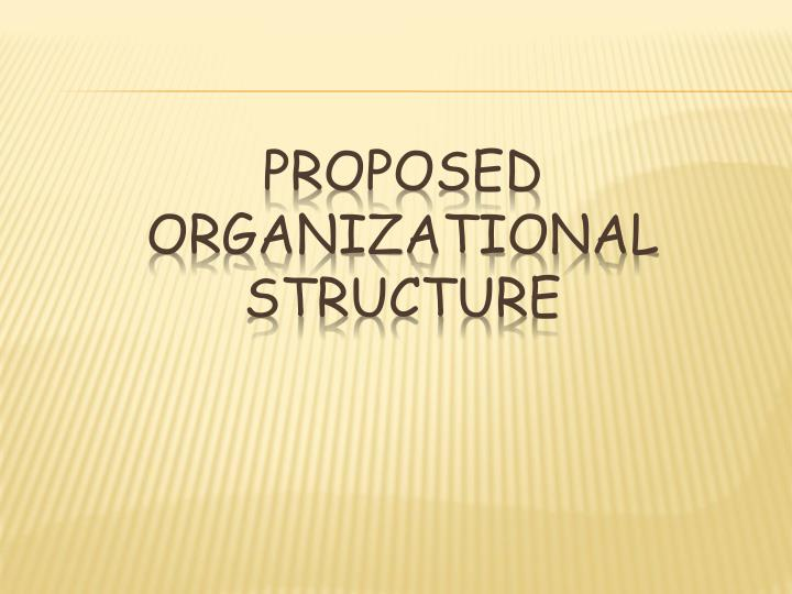 PROPOSED ORGANIZATIONAL STRUCTURE