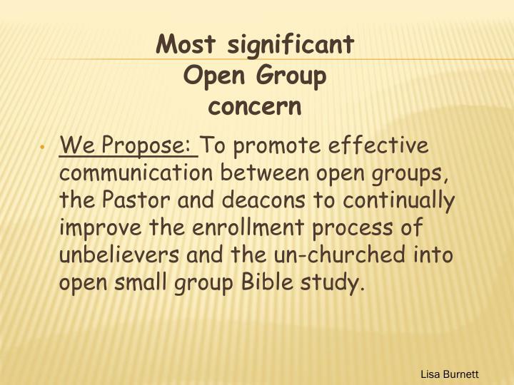 We Propose: