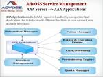 advoss service management aaa server aaa applications