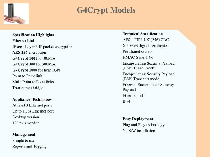 G4Crypt Models
