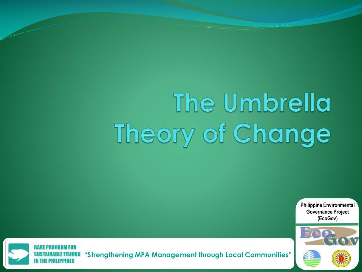 The umbrella theory of change
