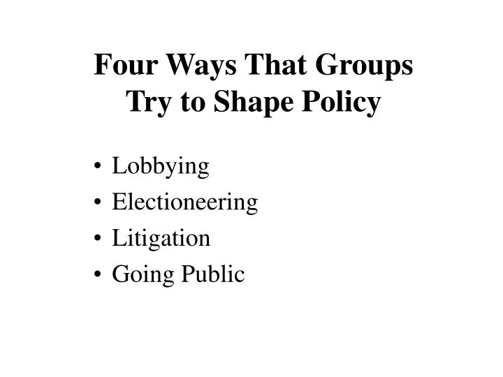Four Ways That Groups