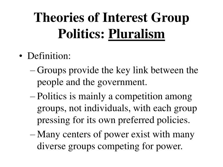 Theories of Interest Group Politics: