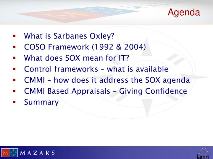 What is Sarbanes Oxley?