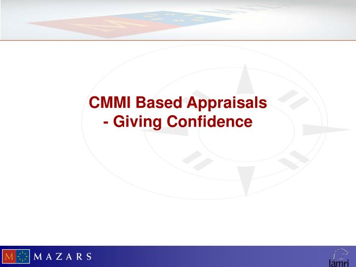 CMMI Based Appraisals