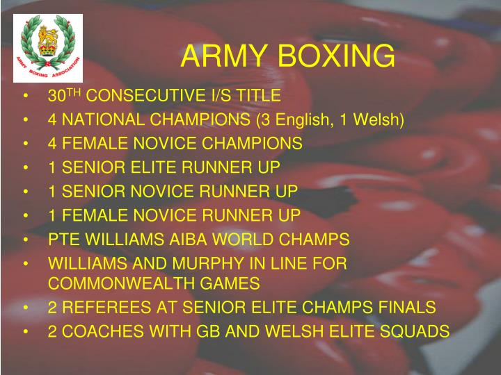 Army boxing