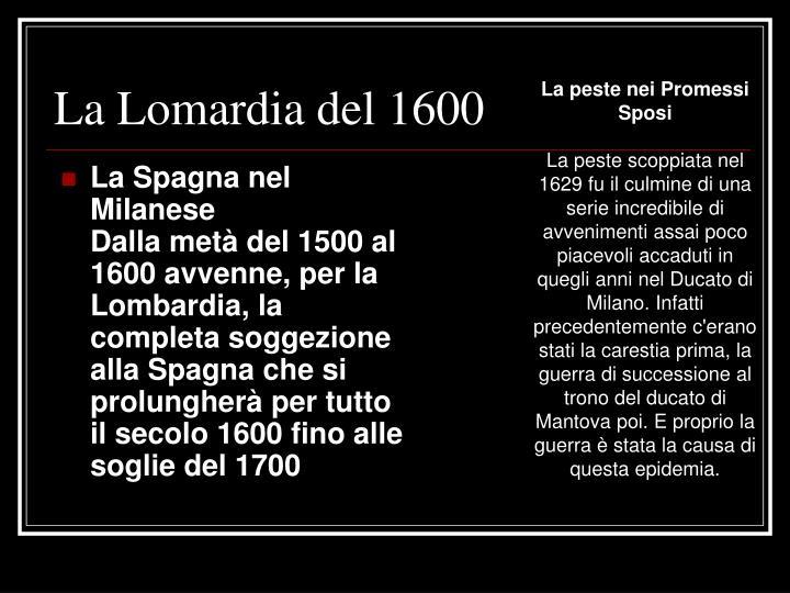 La Lomardia del 1600
