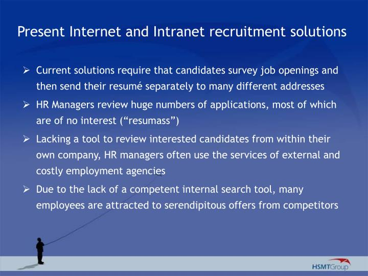 Present Internet and Intranet recruitment solutions