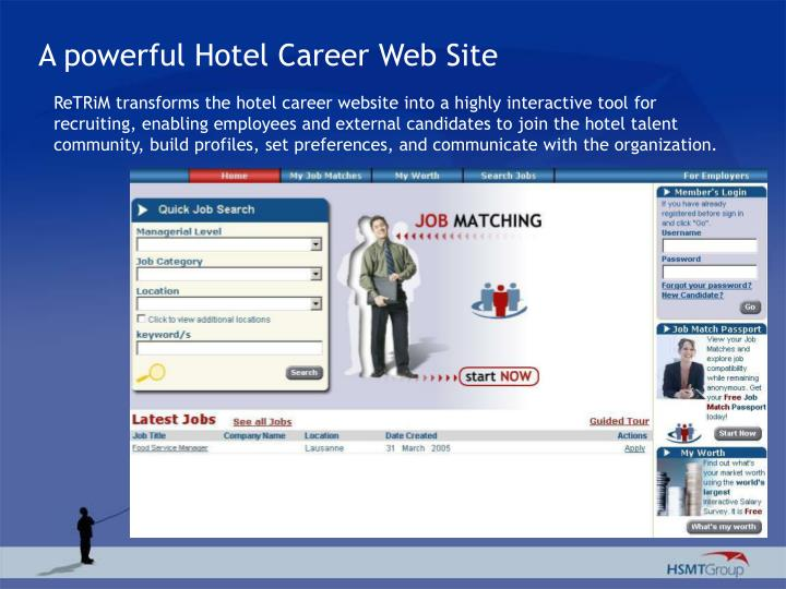 A powerful Hotel Career Web Site