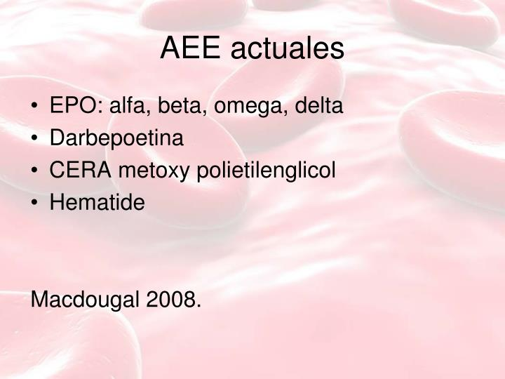 AEE actuales