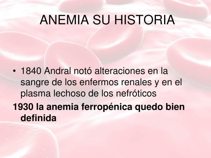 ANEMIA SU HISTORIA