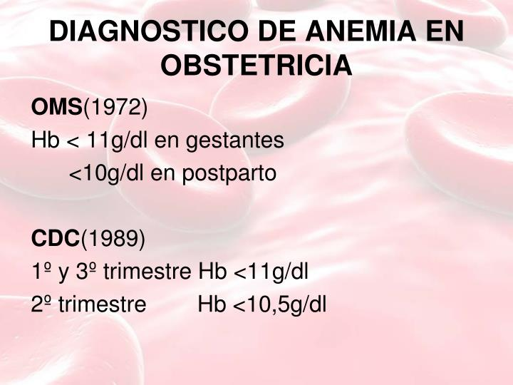 DIAGNOSTICO DE ANEMIA EN OBSTETRICIA