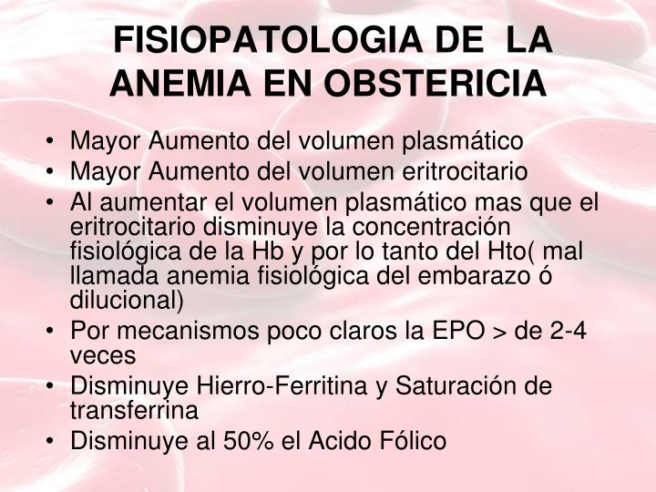 FISIOPATOLOGIA DE  LA ANEMIA EN