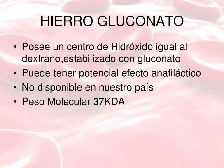 HIERRO GLUCONATO