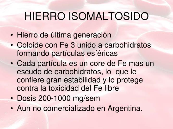HIERRO ISOMALTOSIDO