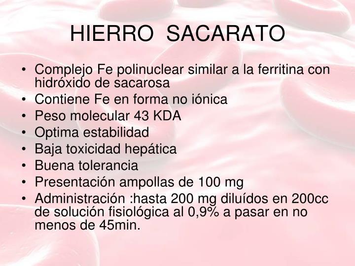 HIERRO  SACARATO