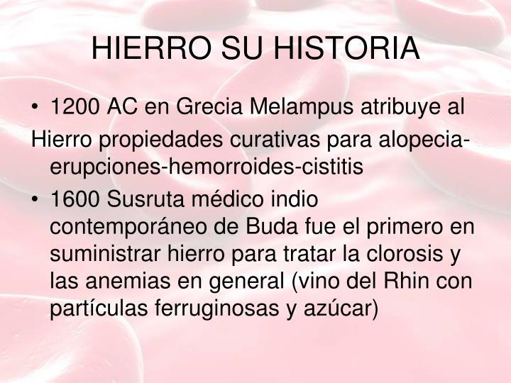 HIERRO SU HISTORIA