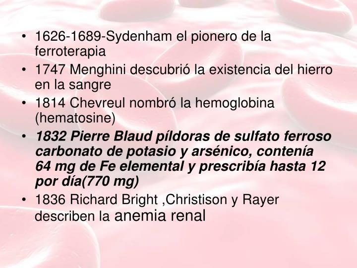 1626-1689-Sydenham el pionero de la ferroterapia