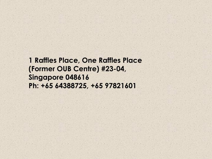 1 Raffles Place, One Raffles Place