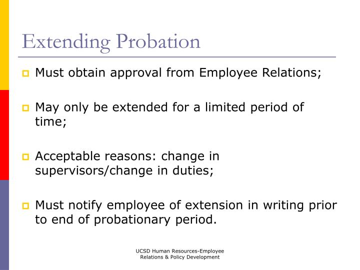 Extending Probation