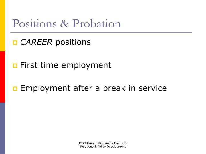 Positions & Probation
