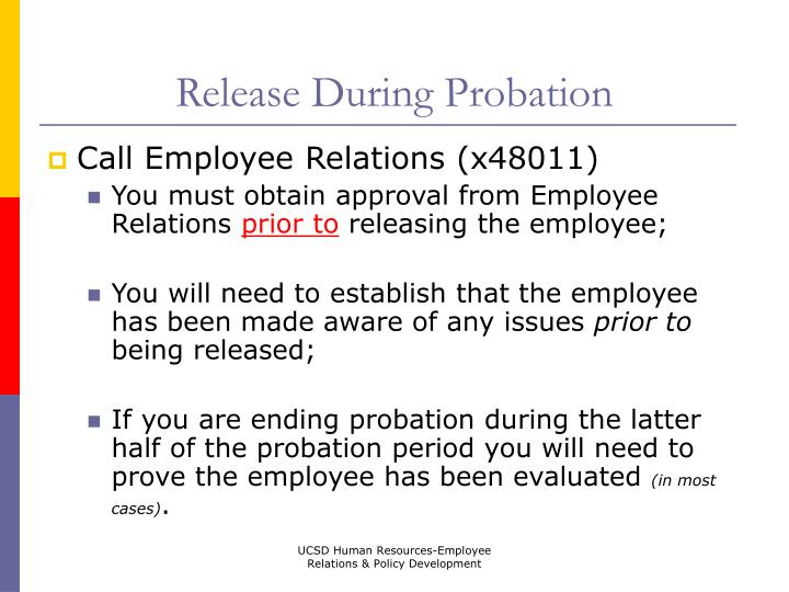 Release During Probation