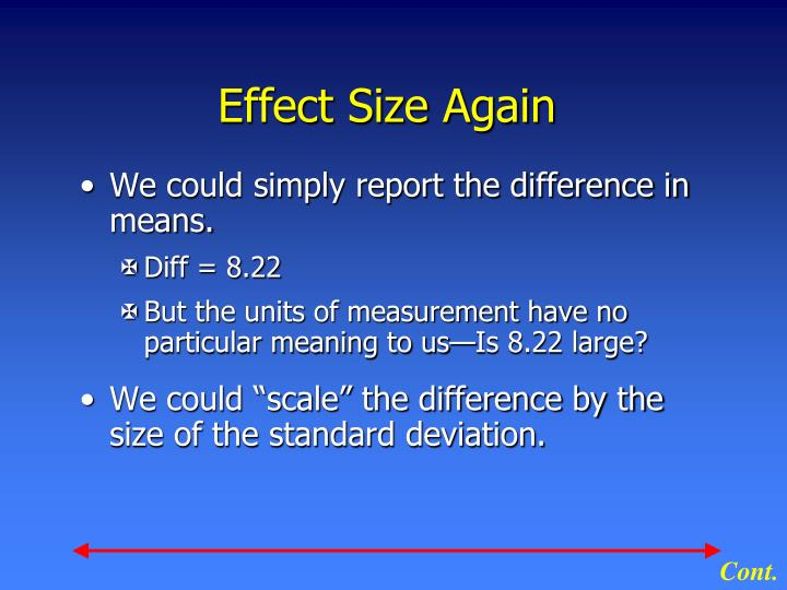 Effect Size Again