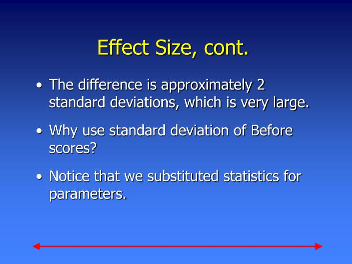 Effect Size, cont.