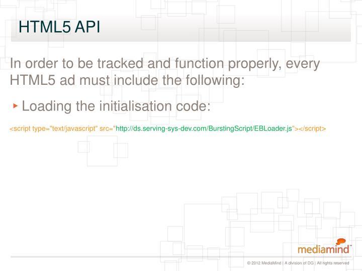 HTML5 API