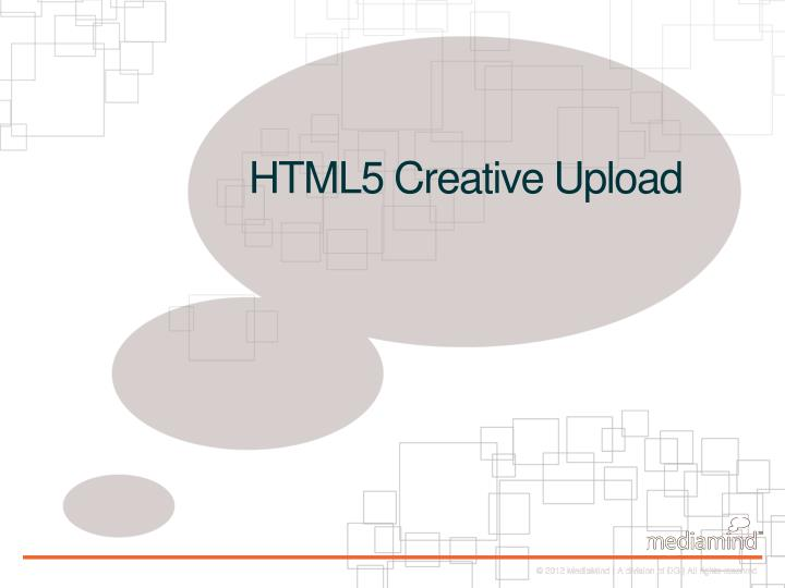 HTML5 Creative Upload