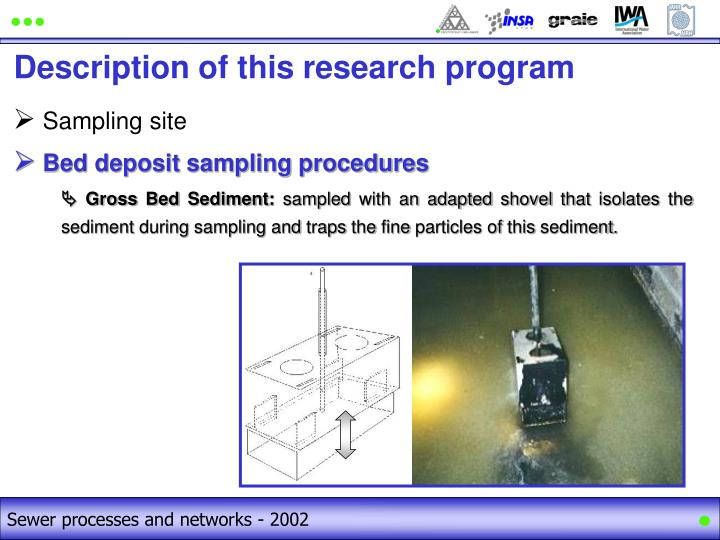 Sewer processes and networks - 2002