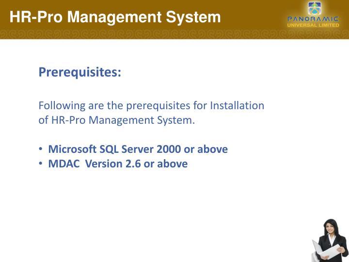 HR-Pro Management System