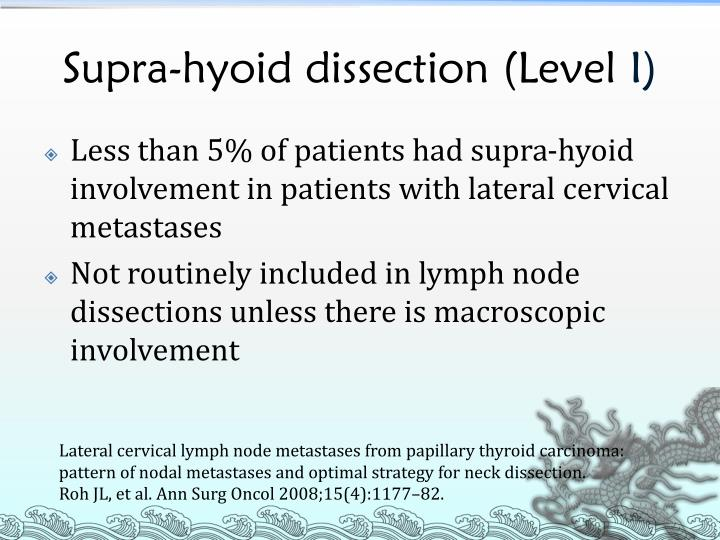 Supra-hyoid dissection (Level