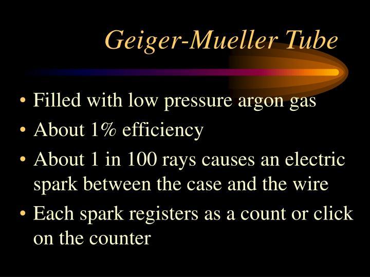 Geiger-Mueller Tube