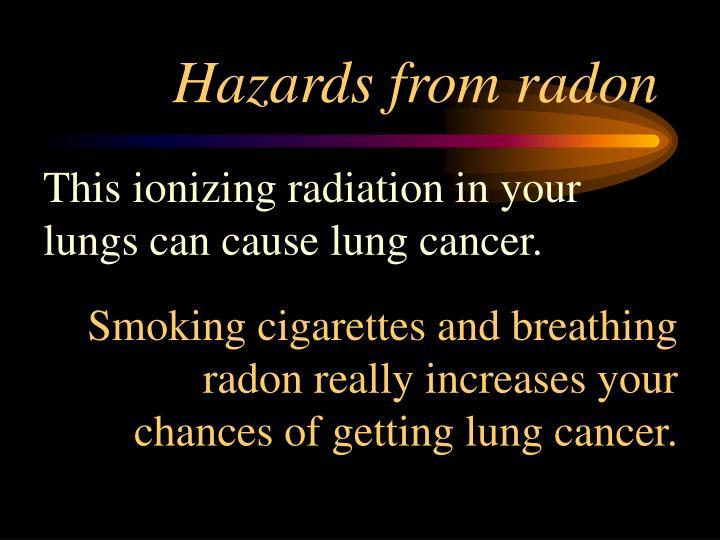 Hazards from radon