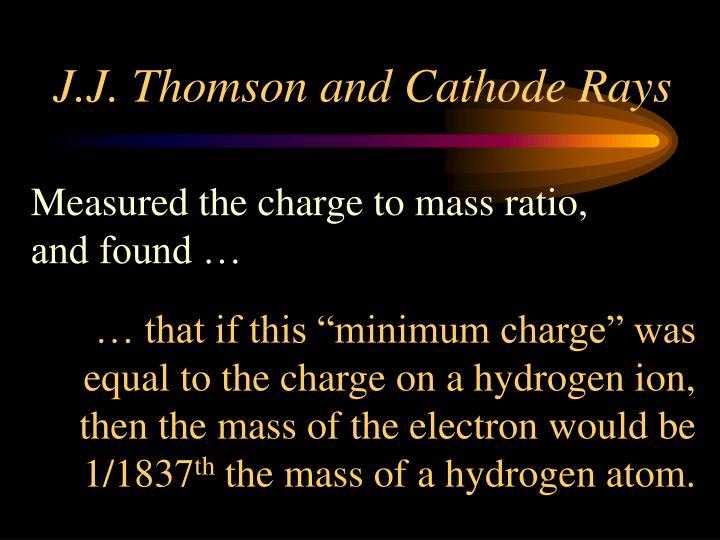 J.J. Thomson and Cathode Rays
