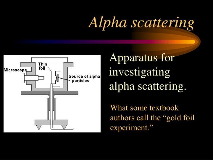 Alpha scattering
