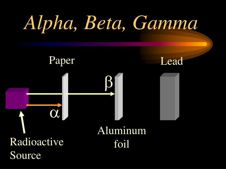 Alpha, Beta, Gamma