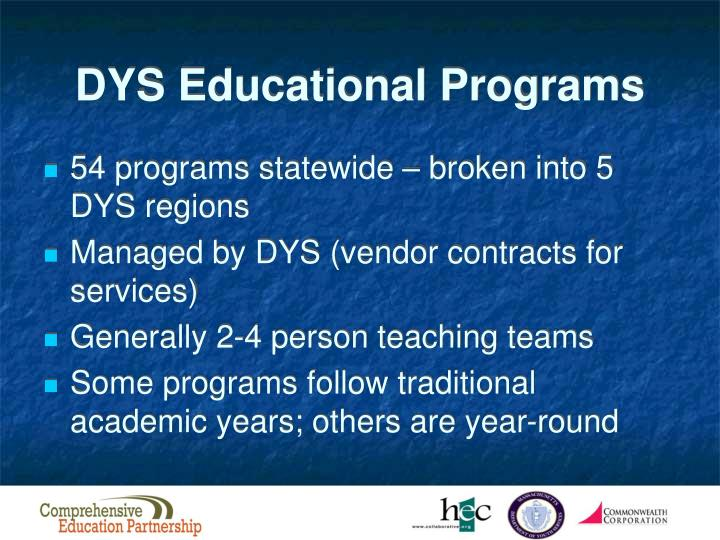 DYS Educational Programs