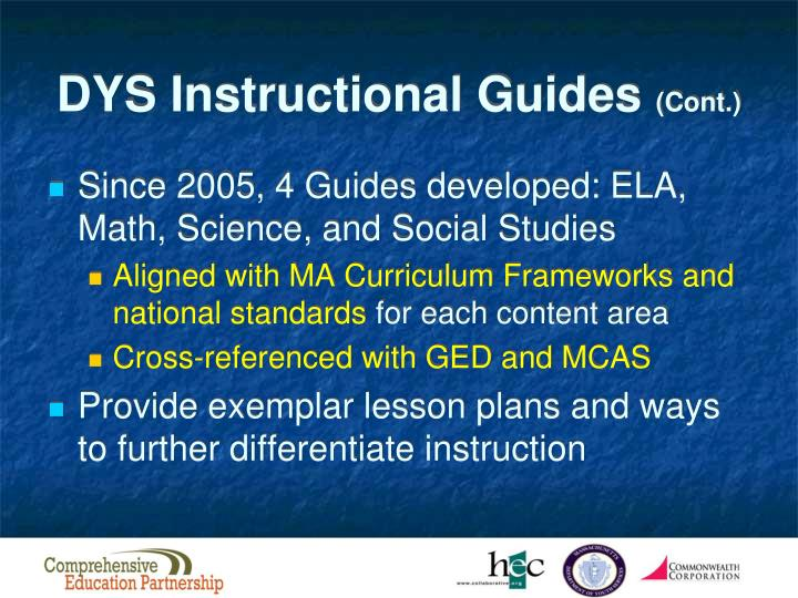 DYS Instructional Guides