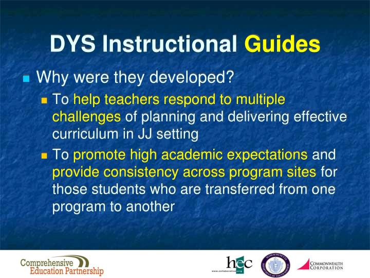DYS Instructional