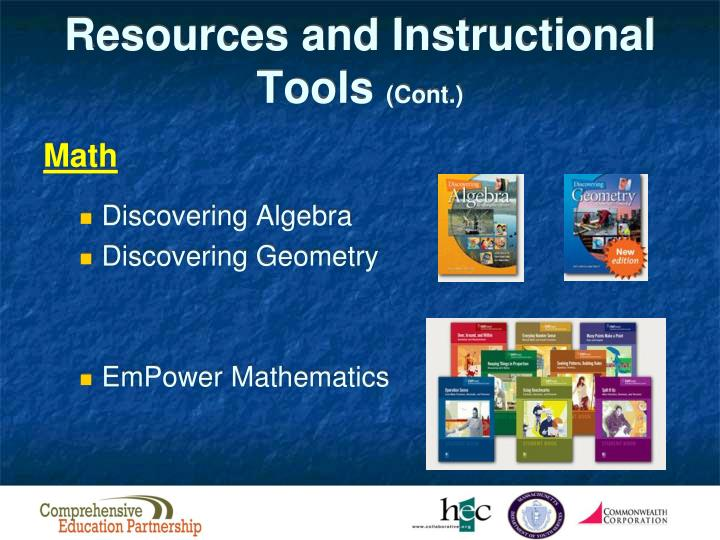 Resources and Instructional Tools