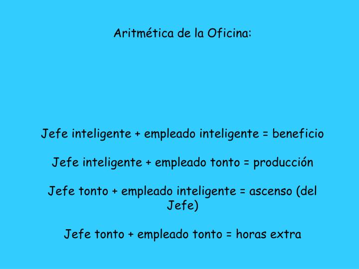 Aritmética de la Oficina: